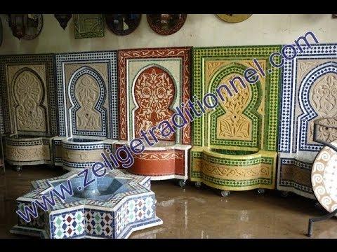 Mosa que traditionnel marocain youtube for Zellige marocain salle de bain