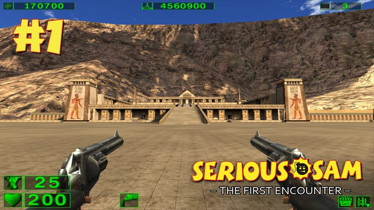 Serious Sam: The First Encounter прохождение игры - Уровень 1: Хатшепсут (All Secrets Found)