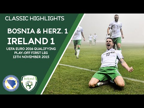 CLASSIC HIGHLIGHTS | Bosnia & Herzegovina 1-1 Ireland - UEFA Euro 2016 Qualifying Play-Off First Leg