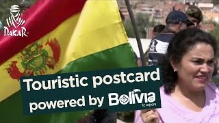 Stage 4 - Tarjeta postal / Touristic postcard / Carte postale; powered by Bolivia