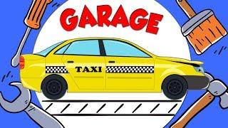 Taxi Car Garage For Kids | Cartoon about cars for Children and babies | Fun to learn