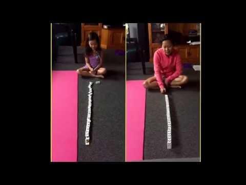 domino race: mummy vs. anneka