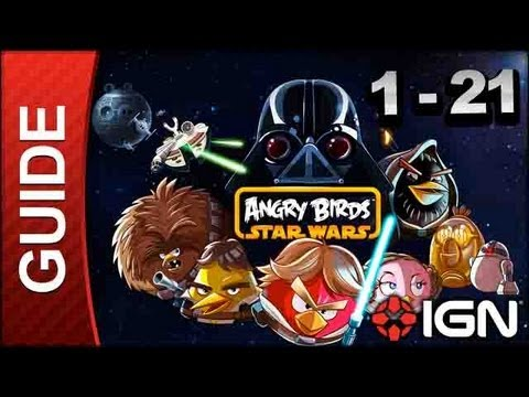 Angry Birds Star Wars: Tatooine Level 1-21 3 Star Walkthrough