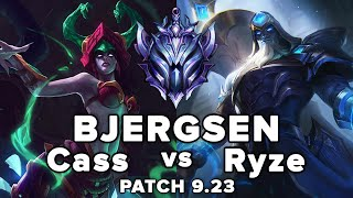 TSM Bjergsen Cassiopeia vs Ryze Mid - PreSeason 10 Patch 9.23 - KR SoloQ