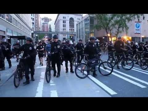 Seattle Police use flash-bangs during May Day protests