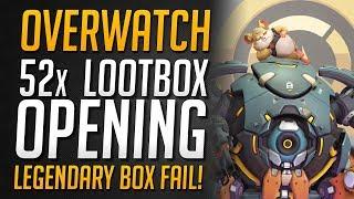 LEGENDÄRER LOOTBOX FAIL!   52x Lootbox Opening   Overwatch Jubiläum 2019★ Overwatch Deutsch