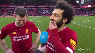 """I've been practising my right foot!"" Salah strikes twice for Liverpool"