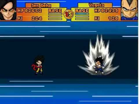 Goku vs Vegeta - Dragon Ball : Ultimate ShowDown  -  Free PC Game - RPG MAKER 2003