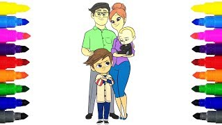 The Boss Baby and Family Coloring Pages for Kids