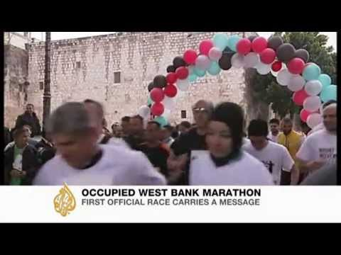 Occupied West Bank hosts first marathon