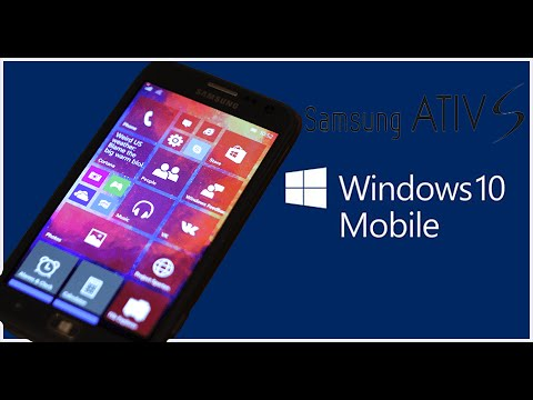 atualizar samsung ativ s para windows 10 mobile youtube
