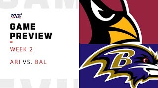 Arizona Cardinals vs. Baltimore Ravens Week 2 NFL Game Preview