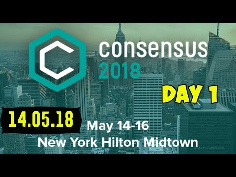 Consensus 2018!   Crypto Conference Day 1.   New York Hilton Midtown