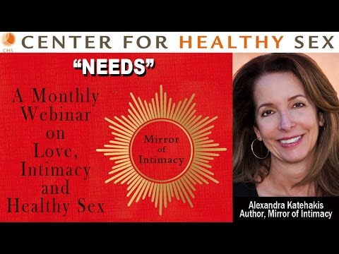 "Interactive Webinar on Sexual/Relational NEEDS with Alex Katehakis from ""Mirror of Intimacy"""