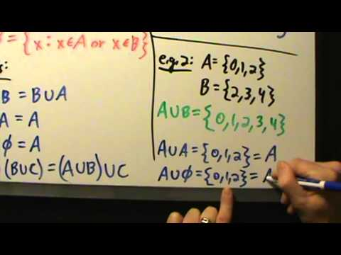 Intermediate Algebra - Set Unions - Definition, Properties, 3 Examples