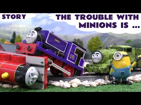 Thomas And Friends Minions Funny Prank Play Doh Accident Crash Trouble Tom Moss Bananas Story video
