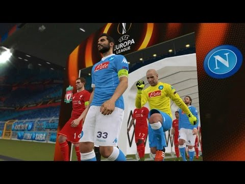 PES 2016 UEFA Europa League Final (S.S.C. Napoli vs Liverpool Gameplay)