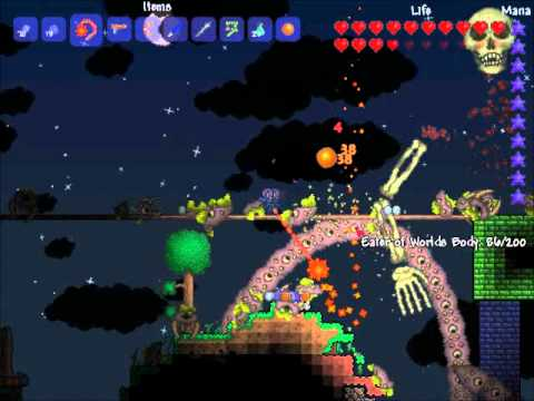 Terraria: All three bosses at once
