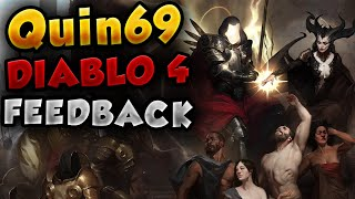 Quin69 - FEEDBACK on DIABLO 4
