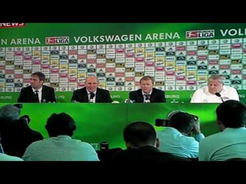 Steve McClaren speaks in a German accent conference Wolfsburg report HD