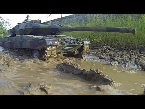 RC Tank 1/16 HL Leopard 2A6 Field Test... 540J Motors, T2000 ESC, 5000maH