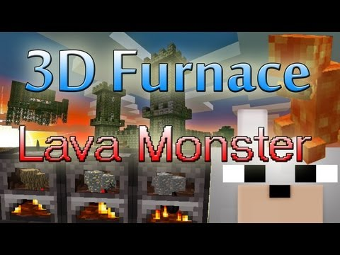 Minecraft Mods - 3D Furnace & Lava Monsters 1.5.1 Review and Tutorial ( SCMowns Server Update Info )