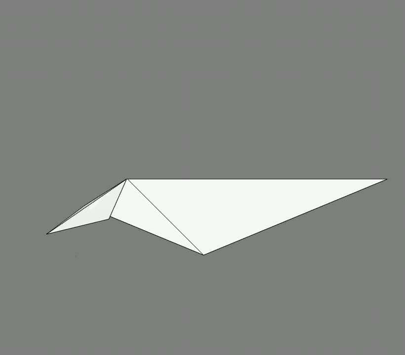 Оригами схема сборки карп
