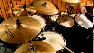 Jan Urbanc plays drums to a Gospel drumless backing 120bpm Feb 2015