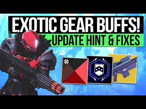 Destiny 2 News | EXOTIC BUFFS & CONTENT HINTS! - Patch Fixes, Nightfall Loot & Fast Crimson Engrams!