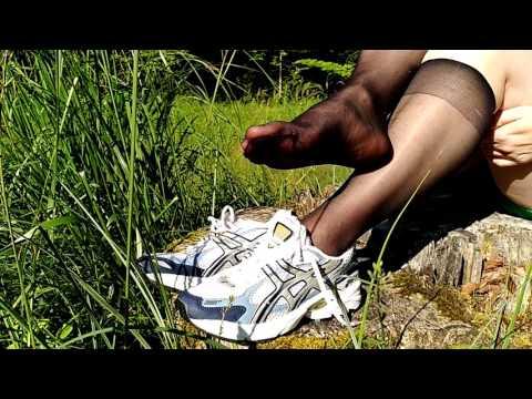 Shiny Black Nylon Socks thumbnail