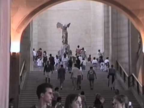 The Winged Victory of Samothrace at the Louvre. 7/1/94. Video