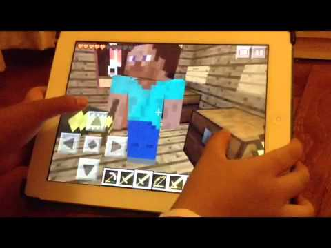 Minecraft PE : multiplayer with creeper girl ( part 4 )