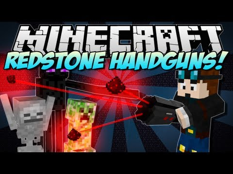Minecraft   REDSTONE HANDGUNS! (Amazing NEW guns!)   Mod Showcase [1.5.1]