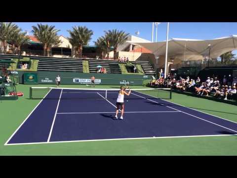 Victoria Azarenka practice with Sascha Bajin and Wim Fissette