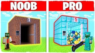 Minecraft NOOB vs PRO: ELEVATOR in Minecraft!