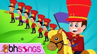 The Grand Old Duke Of York | Nursery Rhymes | Top Kids Songs [ Lyrics Music 4K ]