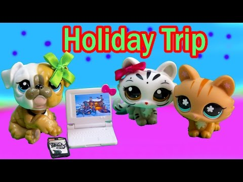 LPS Mommies HOLIDAY SPECIAL Cozy Cabin Trip Vacation Littlest Pet Shop Part 1 of 4 Video Series