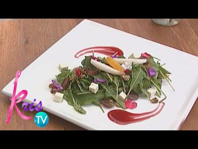 Kris TV: Arugula and Pear Salad recipe