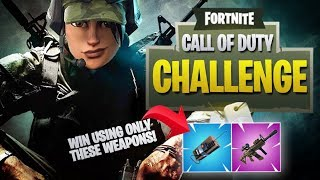 Fortnite Call Of Duty Challenge - Win Using Only Scoped Thermal AR + C4!