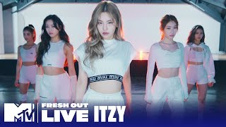 Download lagu BTS of ITZY's Performance of 'Not Shy' & 'WANNABE' 🎬 EXCLUSIVE | #MTVFreshOut