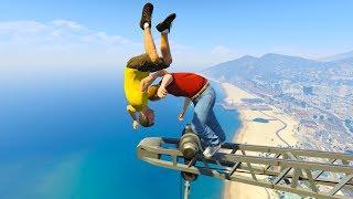 GTA 5 Jump & Falls Compilation (GTA 5 Fails Funny Moments)