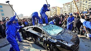 His Lamborghini was destroyed for wanting to show-off