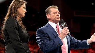 STEPHANIE TAKES A PAGE OUT OF VINCE'S PLAYBOOK