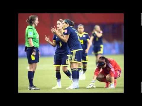 Emocionante relato Inglaterra 2 vs Colombia 1- Gol de Lady Andrade- Canada 2015