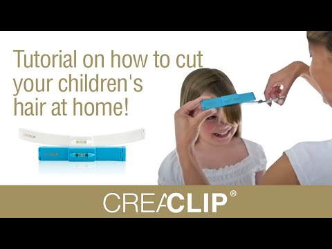 Tutorial on how to cut your children's hair at home! As Seen on Shark Tank CreaClip!