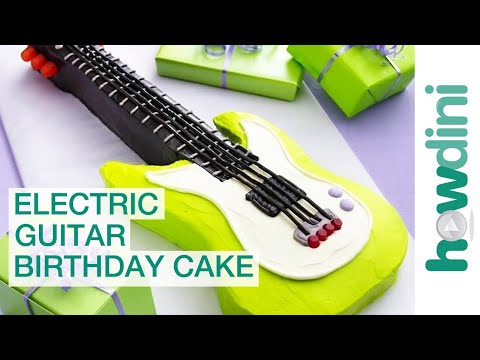How to make a guitar cake - Electric guitar birthday cake