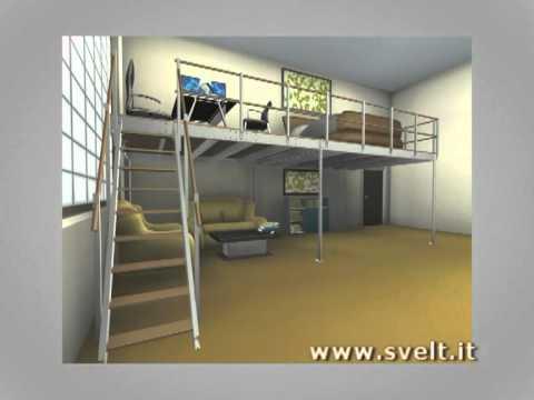 letti a soppalco per adulti immobili : SVELT - SOPPALCO