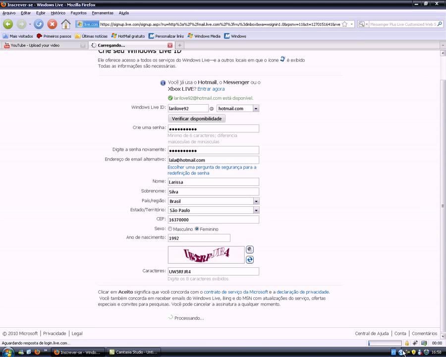 como criar email hotmail - photo #24