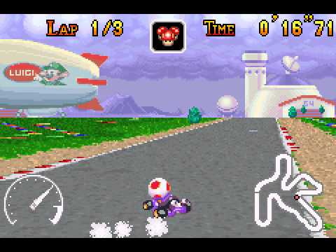 Mario Kart - Super Circuit - Mario Kart - Super Circuit (GBA) - Luigi Circuit shortcut - User video