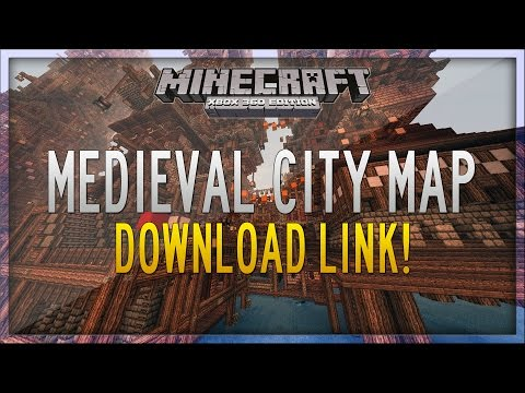 Minecraft Xbox 360: Medieval City Map - Download Link! (Amazing)